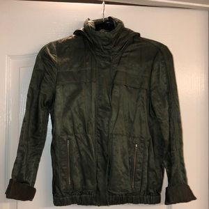JOIE WAXED COATED ARMY GREEN JACKET